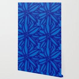 blue navy bloom Wallpaper