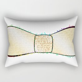Bow to the words Rectangular Pillow