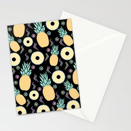 Black Pineapple Stationery Cards