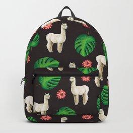 Monstera & llamas Backpack