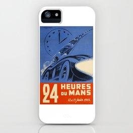 Le Mans 1954, 24hs Le Mans, 1954, original, vintage poster iPhone Case
