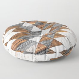 Urban Tribal Pattern 12 - Aztec - Wood Floor Pillow