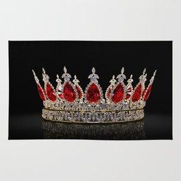 Ruby Jewel Crown Rug