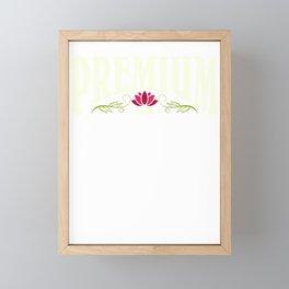 Premium Son | Best Son | Red lotus flower - self love Framed Mini Art Print