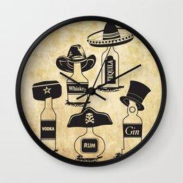 Drinking History Wall Clock