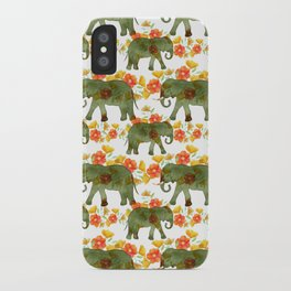 Wading Elephants iPhone Case