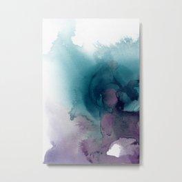 Teal Ultra Violet Vortex Metal Print