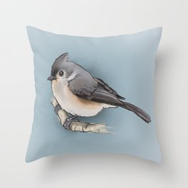 titmouse Throw Pillow