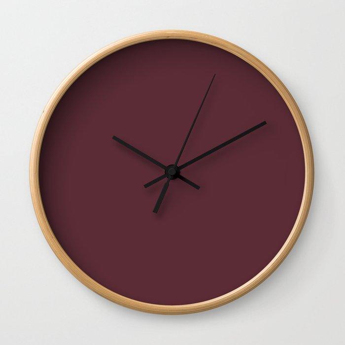 Pantone 19-1725 Tawny Port Wall Clock