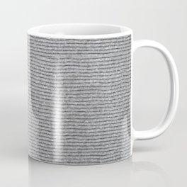 Drab cotton striped texture cloth abstract Coffee Mug