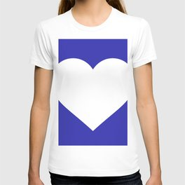Heart (White & Navy Blue) T-shirt