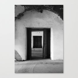 The black doors Canvas Print