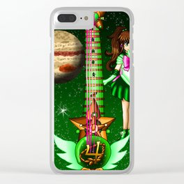 Sailor Moon Guitar #5 - Sailor Jupiter (Makoto Kino) Clear iPhone Case