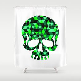 Triangle Camouflage Skull (WITHE) Shower Curtain