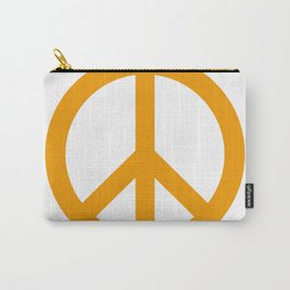 Peace (Orange & White) Carry-All Pouch