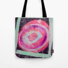 Abstract Green Pink Tote Bag