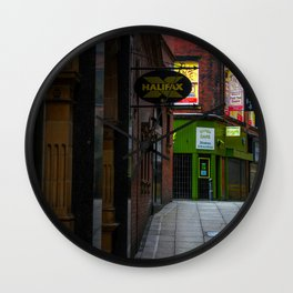 An alleyway in Leeds (UK) Wall Clock