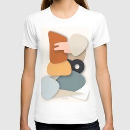 Color Palette, Home Decor, Abstract Shapes, living room wall, neutral colors T-shirt