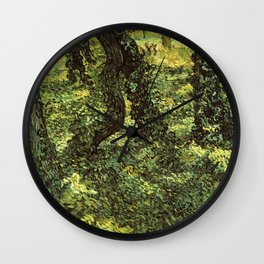Trunks of Trees with Ivy Vincent van Gogh Wall Clock