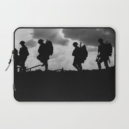 Soldier Silhouettes - Battle of Broodseinde Laptop Sleeve