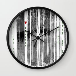 Mirror of nature Wall Clock