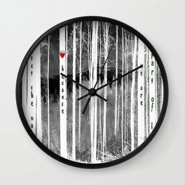 Mirror of nature Wall Clock