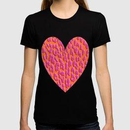Bright Orange & Pink Leopard Print T-shirt
