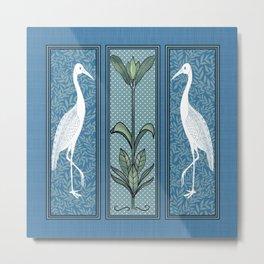 Art Nouveau Style Birds Metal Print