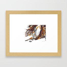 Golden goddess III Framed Art Print