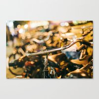 bikes Canvas Prints featuring Bikes by GF Fine Art Photography