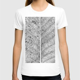 Abstract details of a big tree leaf T-shirt