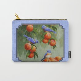 Bluebirds and Peaches Carry-All Pouch