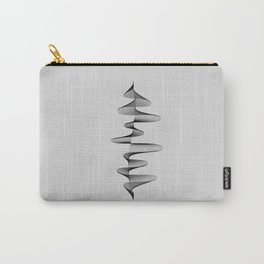 Abstract 80s Soundwave Art Music Audio black and white Musical design home wall bedroom decor Art Pr Carry-All Pouch