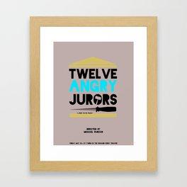Twelve Angry Jurors Framed Art Print