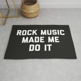 Rock Music Do It Funny Quote Rug