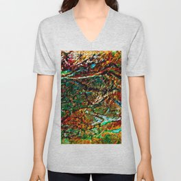 Emerald Impressions Abstract Unisex V-Neck
