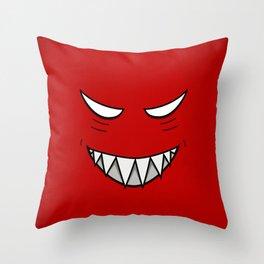 Evil Grin Evil Eyes Throw Pillow