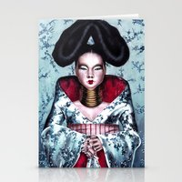 bjork Stationery Cards featuring BJORK by Denda Reloaded