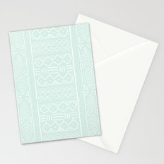 Mudcloth in mint Stationery Cards