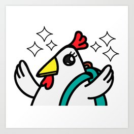 tyler duck is happy Art Print