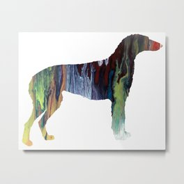 Scottish deerhound Metal Print