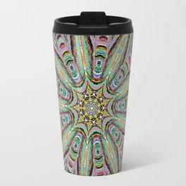 Stained Glass Window - Mandala Art Travel Mug