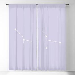 Cancer Zodiac Constellation - Lavender Blackout Curtain
