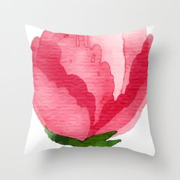 Beauty Rose Flower Throw Pillow