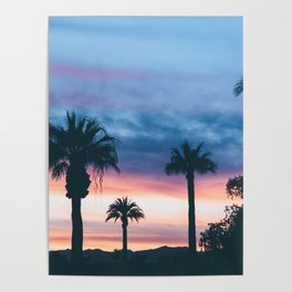 Faded Tropical Sunset (Color) Poster