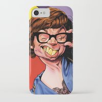 snl iPhone & iPod Cases featuring Austin Power, Mike Myers, color by Patrick Dea