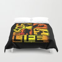 sports Duvet Covers featuring Love Life Extreme Sports  by Dre' J - Cyncor Artworks