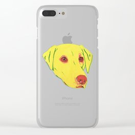 Yellow Labrador Clear iPhone Case