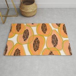 Papaya Cravings #illustration #pattern Rug