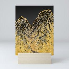 "遠望 series -""Gold Valley"" - Linocut Mini Art Print"